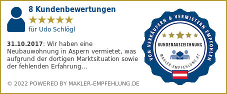 Qualitätssiegel makler-empfehlung.at für Udo Schlögl