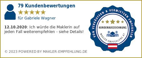 Qualitätssiegel makler-empfehlung.at für Gabriele Wagner