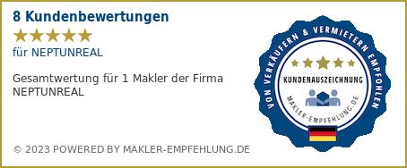 Qualitätssiegel makler-empfehlung.at für NEPTUNREAL